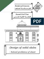 Design of Solid Slabs _solved Problems of Sheet