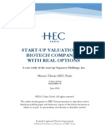 Master Thesis Startup Valuation of Biotech Companies