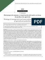 Estrategia de Manejo y Conservación Del Suelo en Áreas de Producción Agrícola