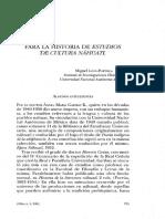 Historia de Estudios de Cultura Náhuatl