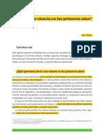 La Ciencia en Los Primeros Años PDF