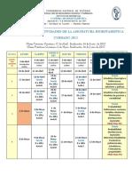 Bioestadistica -Cronograma de Actividades - Cursado 2016
