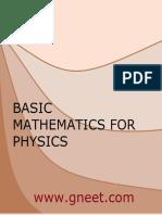 Basic Mathematics for Physics