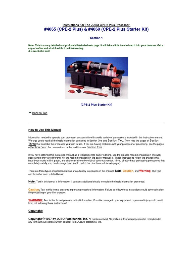 ▷ jobo cpe 2 manual 3d models・shapeways.