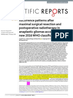 Recurrence patterns after maximal surgical resection and postoperative radiotherapy in anaplastic gliomas according to the new 2016 WHO classification