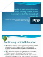 Agung Sumanatha - Certification for Environmental Judges Within the Judicial Training System of the Supreme Court of the Republic of Indonesia