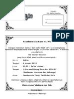 Undangan Arisan Dan 4 Bulanan Folio