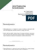 Chemical Engineering Thermodynamics Basics