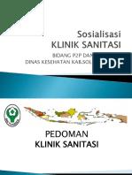 Sosialisasi Klinik Sanitasi 2017
