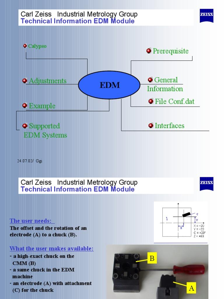 zeiss erosion module rh scribd com Zeiss CMM Models Zeiss Spectrum CMM