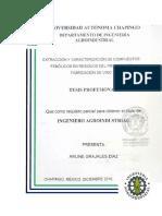 Tesis estraccion y caracterizacion de compuestos fenólicos en reciduos del proceso de fabricación de vino