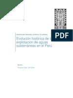 Evolución Histórica de La Explotación de Aguas Subterráneas en El Perú