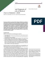 Diagnosis Dan Klasifikasi DM ADA 2018