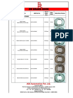 Ask 2w 3w Brake Shoe Catalogue
