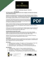 Mayfair Market Report September
