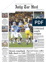 The Daily Tar Heel for September 7, 2010