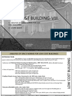 Analysis of Space Norms for Low Cost Buildings & Laurie Baker