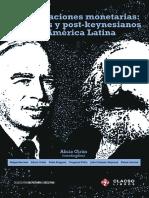 Confrontaciones Monetarias Marxistas y Post - Keynesianos en AmÃ