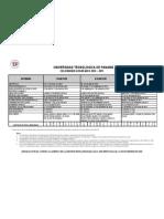 calendario academico utp
