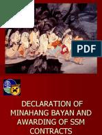 Declaration of Minahang Bayan