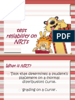 Test Reliabilitychapter 8