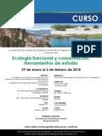 Cartel Ecologia Funcional y Conservacion 20180129