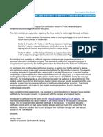 Verification Letter 2018