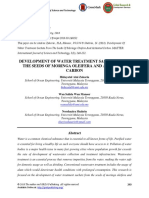 Development of Water Treatment Sachets From the Seeds of Moringa Oleifera and Activated Carbon