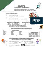 Extreme Adjectives - Skills Sheet