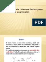 Clase 14. Fabricación de Intermediarios Para Colorantes y Pigmentos; Fabricación de Colorantes; Pigmentos Orgánicos