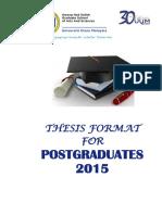 Thesis Format Post Graduat 2015