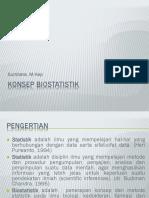 Konsep Biostatistik & Konsep Data Dlm Biostatistik