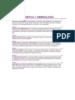 Genética y Embriología