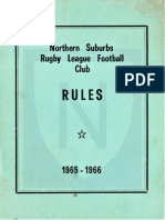 Northern Suburbs RLFC Rules 1965 1966