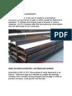 Steel Corrosion Protection via Desiccant Method