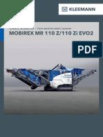 Datasheet Kleemann MR110 EVO 2