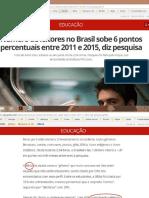 Número de Leitores No Brasil Sobe 6 Pontos Enter 2011-2015