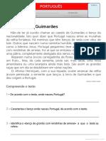 Texto - O Castelo de Guimarães