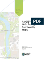 Arcmap Functionality Matrix