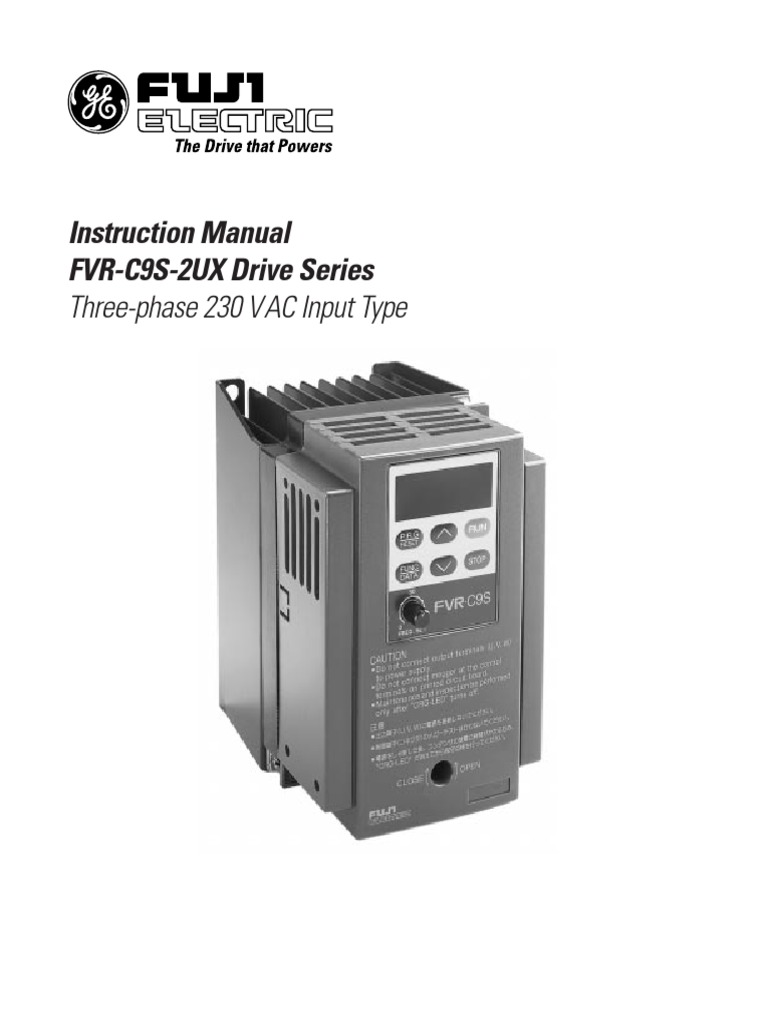 FVR-C9S | Power Supply | Mains Electricity