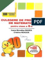 Culegere de Probleme de Matematica Clasa a VI a PDF