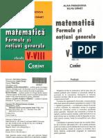 Matematica v VIII Formule Notiuni Generale