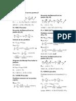 Ecuación Bernoulli en Los Puntos