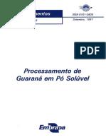 Guaraná Spray Dryer