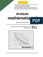 Polycope Analyse Mathématique I . 2013 HACHIMI
