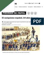 El caciquismo español, 110 años después