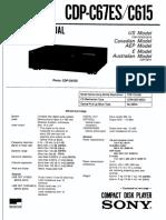 Sony Cdp-c615 c67es