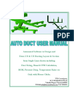 Auto Duct User Manual