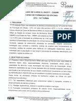 Plano de Curso 09 - Cfo - Cbmgo, Piaui, Acre e Amapá - 14ª Turma