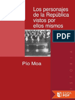 Los Personajes de La República - Pío Moa